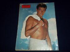 1962 L'ENLEVEMENT DES SABINES MAGAZINE - ROGER MOORE BACK COVER- FRENCH- II 7439