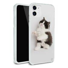 Persian Kitten Cat Black White Apple iPhone 8, 8 Plus, X, 11 Case