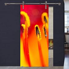 Glasschiebetür 1004-1-V1000-GM Digitaldruck Blüte2 Griffmuschel Edelstahl