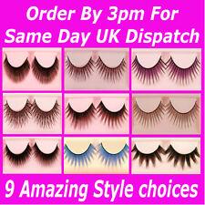 1 Pair False Eyelashes Lashes Full Individual Long Makeup Natural Soft Thick