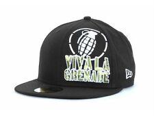 Grenade Viva La Big Corp Black New Era 59 Fifty Fitted Hat Ball Cap New NWT