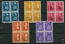 Nederland Zomerzegels 1958 707-711 blokken v 4 -POSTFRIS CW 80