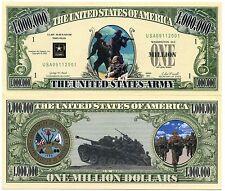 United States Army 1 Million Dollars Novelty Money