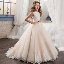 Robe de princesse fille Robes de demoiselle d'honneur de mariage de l'enfant New