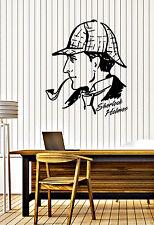 Wall Sticker Decal Detective Sherlock Holmes Baker Street Interior Decor z4693
