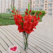 Artificial Gladioli Spray Stem - Fake Silk Tropical Flowers Plastic Gladiolus