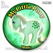 "MY LITTLE PONY ""Minty"" ~ Pin Badge or Fridge Magnet [45mm] Retro Toys"