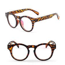 Fashion Round Thick Horn Rim Optical Eyeglass Frame Clear Lens Eyewear Rx 2175