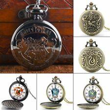 Vintage Harry Potter Men's Pocket Watch Necklace Pendant Gift Roman Numerals New