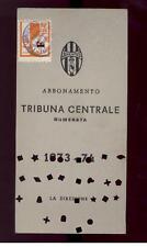 Calcio-football juventus Abbonamento  1973/74