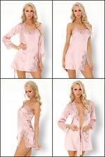 LIVCO CORSETTI Luisanna Luxury Soft Robe Chemise and Matching G-String Set