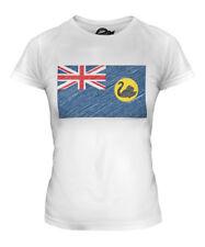 WESTERN AUSTRALIA SCRIBBLE FLAG LADIES T-SHIRT TEE TOP GIFT AUSTRALIAN FOOTBALL