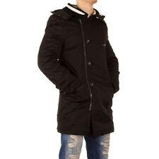GIACCA UOMO BISTON Parka Cappotto Giubbino Giaccone con cappuccio colore nero