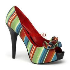 SEXY decolte' Pin Up TACCO 13 dal 35 al 41 plateau scarpe spuntate GLAMOUR !