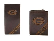 ZEP-PRO Georgia Bulldogs Genuine Leather Debossed Wallet Checkbook or Trifold