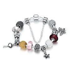 Beadarmband Bettelarmband Armreif Silber Charms Anhänger Armband Schmetterling