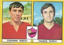 FIGURINE CALCIATORI EDIS 1969 / 70 *REGGINA * TOSCHI  / TACELLI - NUOVA