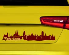 Aufkleber Barcelona mit Sehenswürdigkeiten  11 Farben 2 Größen