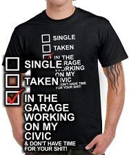 Fun t-shirt * single taken Civic * tuning clé à chocs v-tec CRX pièces accessoires de voiture