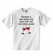 Momia es mucho más divertido ahora que ella puede beber otra vez-Baby t-shirt tees