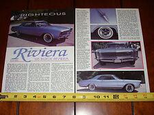 1965 BUICK RIVIERA - ORIGINAL 1992 ARTICLE