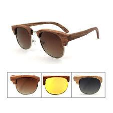 TT Women Men Glasses Bamboo Zebra Wooden Anti-UV Polarized Sunglasses Goggles