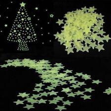 100pcs Luminous Star Wall Sticker In The Dark Glow Decal Home Kids Bedroom Decor