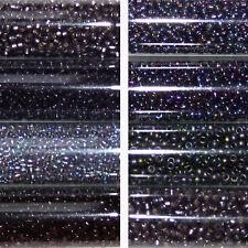 Miyuki Rocailles 11/0 circa 2 mm con ametista, viola circa 9,9 GRAMMI = 1 provette