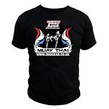 MUAY THAI BLACK 'FLAMED v2' UNISEX HEAVY MMA SHORT SLEEVE T-SHIRT TOP UFC BOXING