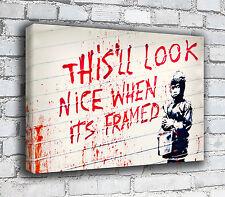 Banksy Canvas - Framed