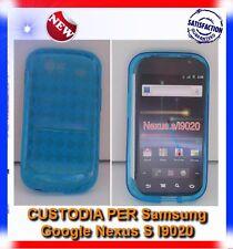 Pellicola+Custodia GRID BLU per Samsung I9020 Nexus S (B4)