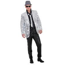 showjacket paillettes giacca uomo Argento glitzerjacke PRESENTATORE/conduttore