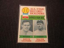 1979 TOPPS #418 DUTCH LEONARD/WALTER JOHNSON ALL-TIME RECORD  NM/NM-MT  RED SOX