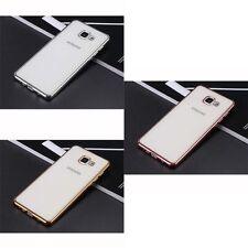 pour Samsung Galaxy A3 2017 Ultra Fin Métallique CHROME SILICONE TPU COQUE GEL