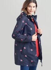 New! Joules Dockland Reversible Waterproof Raincoat - Navy Posy - UK 10 - 18