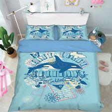 3D Animal Creative Poster 42 Bed Pillowcases Quilt Duvet Cover Set Single Queen