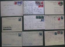 DEMOCRATICA. 9 pezzi (let./cartoline),periodo 1948-1951