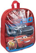 Disney Cars 3 Flashing Light Up Backpack Boys LED Shoulder Travel School Bag