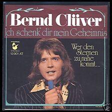 """7"""" @ Bernd Clüver @ Ich schenk dir mein Geheimnis @ m -"""