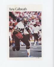1978 Marketcom Mini Posters TOGA Tony Galbreath New Orleans Saints Football Card