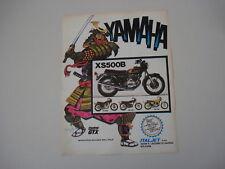 advertising Pubblicità 1975 MOTO YAMAHA XS 500 B