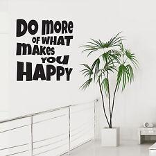 Muro ARTE Adesivo fare di più di quello che vi rende felice Decalcomania In Vinile Salotto Camera Da Letto