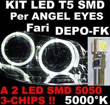 24 LED T5 SMD BIANCHI 5000°K x fari ANGEL EYES DEPO FK