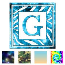 Zebra Font G Initial - Vinyl Decal Sticker - Multiple Patterns & Sizes - ebn3295