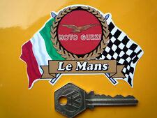 MOTO GUZZI LE MANS Flags & Scroll helmet or motorcycle sticker V7 T3 etc