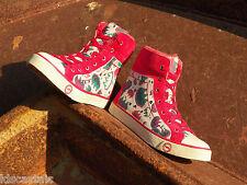 New Womens UGG Stella Graffiti Size 7 Claw Seal/Sugar Plum Sheepskin Sneaker