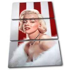 Marylin Monroe Iconic Celebrities TREBLE CANVAS WALL ART Picture Print VA