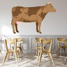 Coupes de viande mur art graphique autocollant mural boeuf vache bouchers decal anatomie