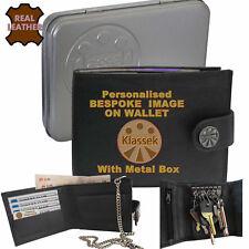 Bespoke Personalised Your Logo Photo Klassek Mens Leather Wallet Prices Vary?