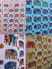DELUXE Elephant Bedsheet Bedspread Wall Hanging King Size Hippy Boho Applique